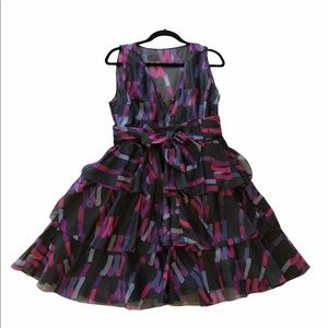 Marc by Marc Jacobs Silk Tiered Ruffle Dress
